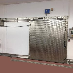 automatic sliding door close up cleaned